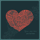 Schöne Abbildung Inneres gebildet von den Blumen Glückliche Valentinsgrußtagesvektorillustration Stockfotografie