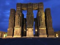 Schöne Abendansicht des georgischen Stonehenge stockbilder
