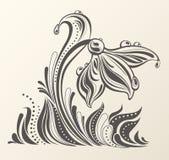 Schöne abstrakte Blumengestaltungsarbeit Lizenzfreies Stockfoto