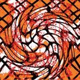 Schöne abstrakte dunkle Linien Graffiti kopieren Vektorillustration Lizenzfreies Stockfoto