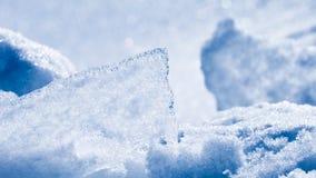 Schöne Abstraktion des Schnees und des Eises Lizenzfreies Stockfoto