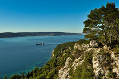 Schöne adriatische Landschaft Stockfotografie