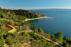 Schöne adriatische Landschaft Stockfoto