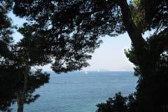 Schöne adriatisches Seeansicht Dubrovniks Kroatien Lizenzfreies Stockbild