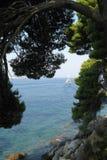 Schöne adriatisches Seeansicht Dubrovniks Kroatien lizenzfreie stockbilder