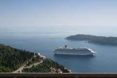 Schöne adriatisches Seeansicht Dubrovniks Kroatien Stockbild