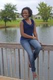 Schöne African-Americanfrau Lizenzfreies Stockbild