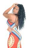 Schöne Afrikanerin im Profil Lizenzfreies Stockfoto