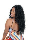 Schöne Afrikanerin von der Rückseite Stockfotos