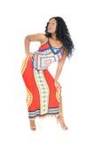 Schöne Afrikanerin von der Rückseite Lizenzfreies Stockfoto