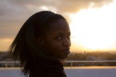 Schöne afrikanische Frau Lizenzfreies Stockbild