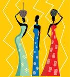 Schöne afrikanische Frauen stock abbildung