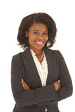 Schöne afrikanische Geschäftsfrau stockfoto