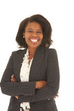 Schöne afrikanische Geschäftsfrau lizenzfreies stockbild