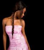 Schöne Afroamerikaner-Dame lizenzfreie stockfotos