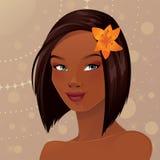 Schöne Afroamerikaner-Frau stock abbildung