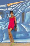 Schöne Afroamerikaner-Mode Stockbilder
