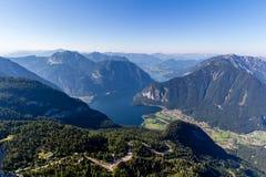 Schöne Alpenansicht von Dachstein-Berg, 5 Finger, die Plattform, Österreich ansehen Lizenzfreie Stockbilder
