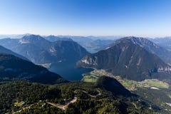 Schöne Alpenansicht von Dachstein-Berg, 5 Finger, die Plattform, Österreich ansehen Stockfotos