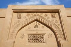 Schöne alte Auslegungen auf die Oberseite der Tür Stockbild