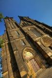 Schöne alte Basilika von St Peter und von Saint Paul, Vysehrad, Prag, Tschechische Republik Stockbild
