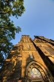 Schöne alte Basilika von St Peter und von Saint Paul, Vysehrad, Prag, Tschechische Republik Stockfotografie