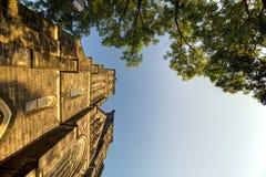 Schöne alte Basilika von St Peter und von Saint Paul, Vysehrad, Prag, Tschechische Republik Lizenzfreies Stockbild