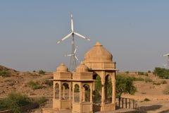 Schöne alte Ehrengrabmale von rawal Königen in bada baagh jaisalmer Rajasthan Indien Lizenzfreie Stockbilder