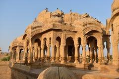Schöne alte Ehrengrabmale von rawal Königen in bada baagh jaisalmer Rajasthan Indien Lizenzfreie Stockfotografie