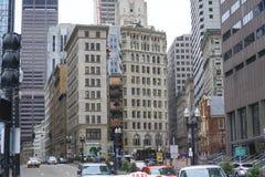 Schöne alte Gebäude in Boston - BOSTON, MASSACHUSETTS - 3. April 2017 Stockfotos