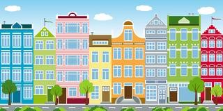Schöne alte Häuser vektor abbildung
