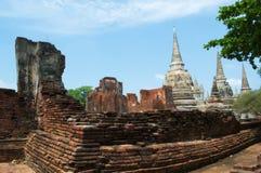 Schöne alte Kunst in Buddha bei Wat Yai Chaimongkol, Ayutthaya, Stockbild
