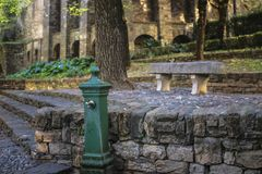 Schöne alte Landschaft in der Mitte von Bergamo in Italien stockfoto
