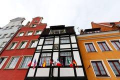 Schöne alte Stadt in Gdansk Lizenzfreie Stockfotos