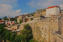 Schöne alte Stadt von Mostar in Bosnien Lizenzfreie Stockfotos