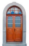 Schöne alte Tür getrennt im Weiß Stockfotografie