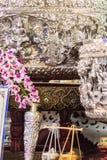 Schöne alte thailändische echte silberne Schüssel, Retro- graviertes silve Lizenzfreie Stockbilder