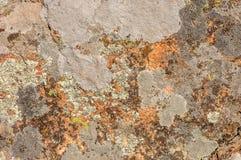 Schöne alte Wand mit Sprüngen und gealterter Beschaffenheit Stockfoto