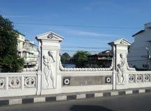 Schöne alte weinende Brücke in Bangkok Lizenzfreie Stockfotos