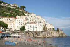 Schöne Amalfi-Küste Stockbilder