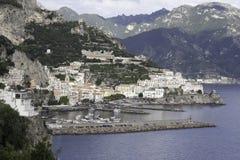Schöne Amalfi-Küste Stockfotografie