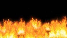 Schöne Animation des Explosionsprozesses der pyrotechnischen Produkte und der Freigabe einer großen Menge der Flamme stock abbildung