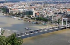 Schöne Ansicht über Budapest stockbilder