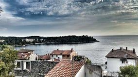 Schöne Ansicht über das Meer Lizenzfreies Stockfoto