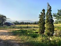 Schöne Ansicht über den Bauernhof Lizenzfreie Stockfotografie