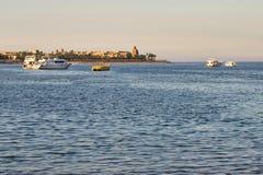 Schöne Ansicht über die Küstenlinie im Roten Meer Ägypten, Afrika U Lizenzfreies Stockbild