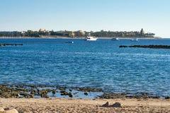 Schöne Ansicht über die Küstenlinie im Roten Meer Ägypten, Afrika U Stockfotografie