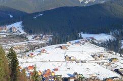 Schöne Ansicht an den Karpatenbergen Lizenzfreies Stockfoto