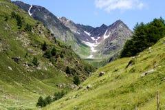 Schöne Ansicht der österreichischen Alpen Lizenzfreie Stockfotografie