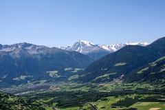 Schöne Ansicht der österreichischen Alpen Stockbilder